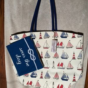 Tommy Bahama 2in1 nautical tote